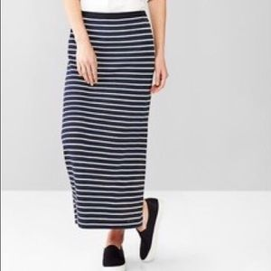 Gap// striped maxi skirt